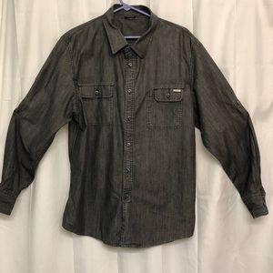 Oakley Men's Gray casual bottom down shirt